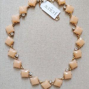 NWT J Crew Peach Stone Necklace